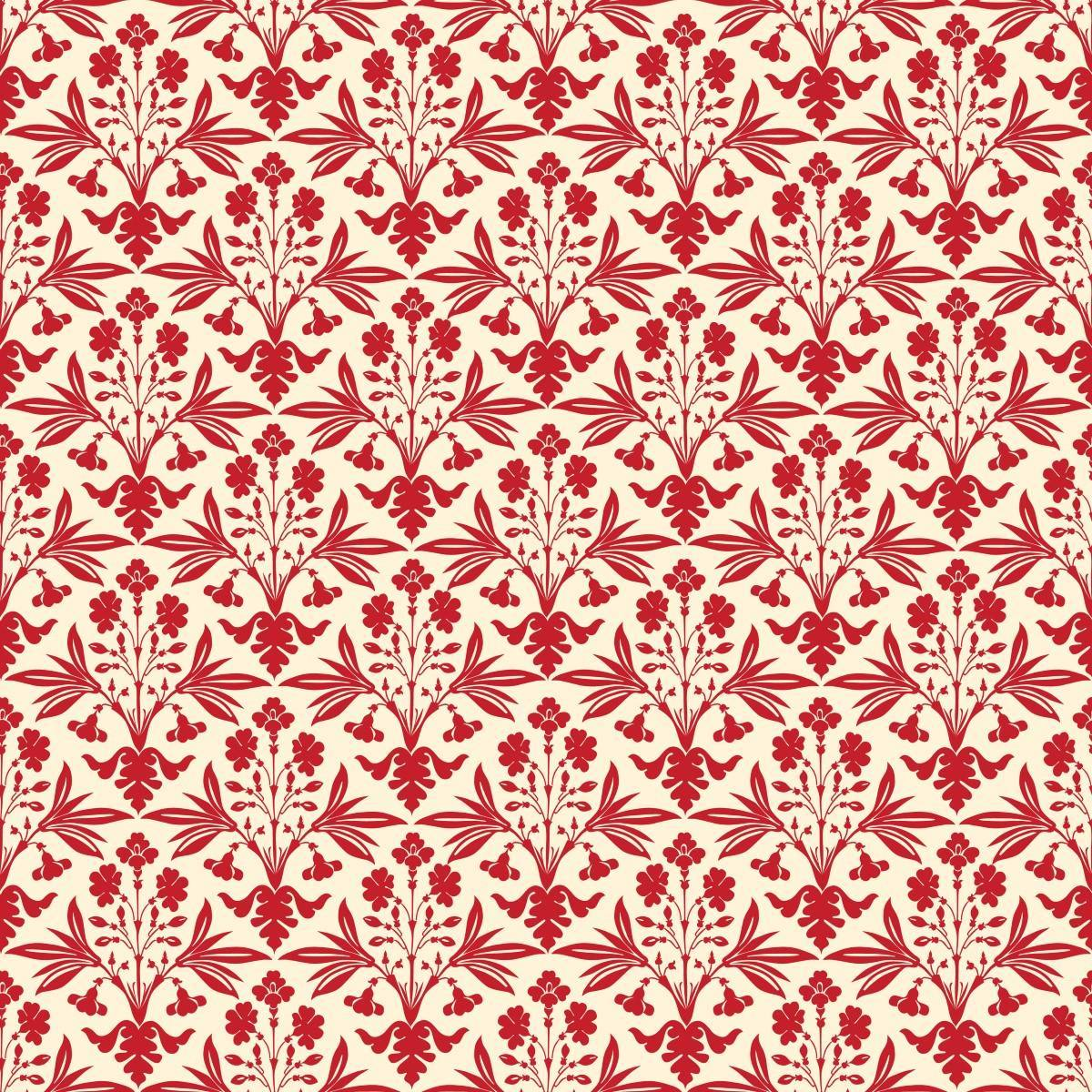 Papel de Parede Arabesco Vermelho | Adesivo Vinilico imagem 2