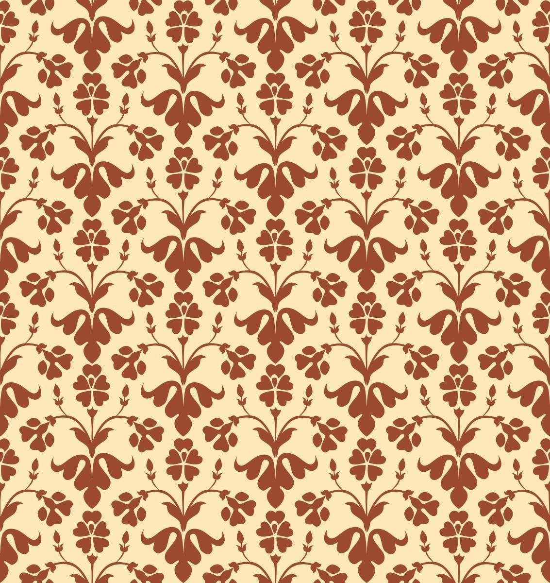 Papel de Parede Floral Vintage Vermelho| Adesivo Vinilico imagem 2