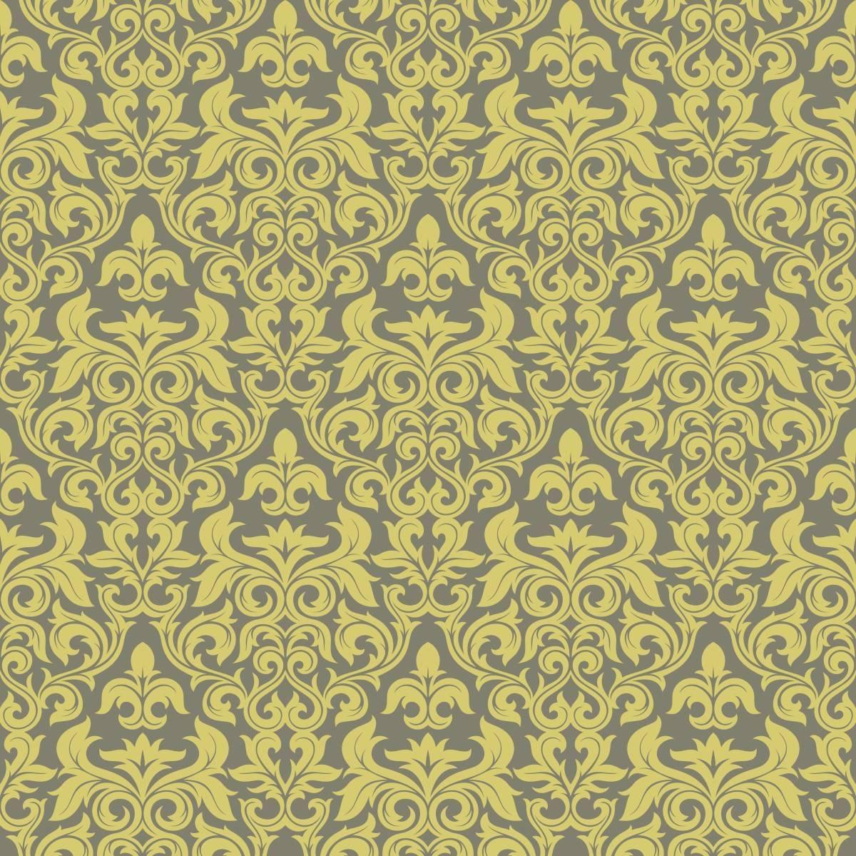 Papel de Parede Arabesco Dourado | Adesivo Vinilico imagem 2