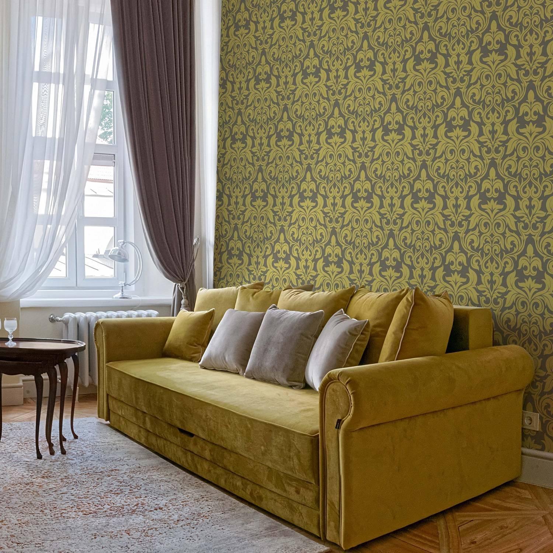 Papel de Parede Arabesco Dourado | Adesivo Vinilico imagem 1