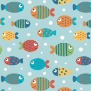 imagem do Papel de Parede Adesivo Peixes