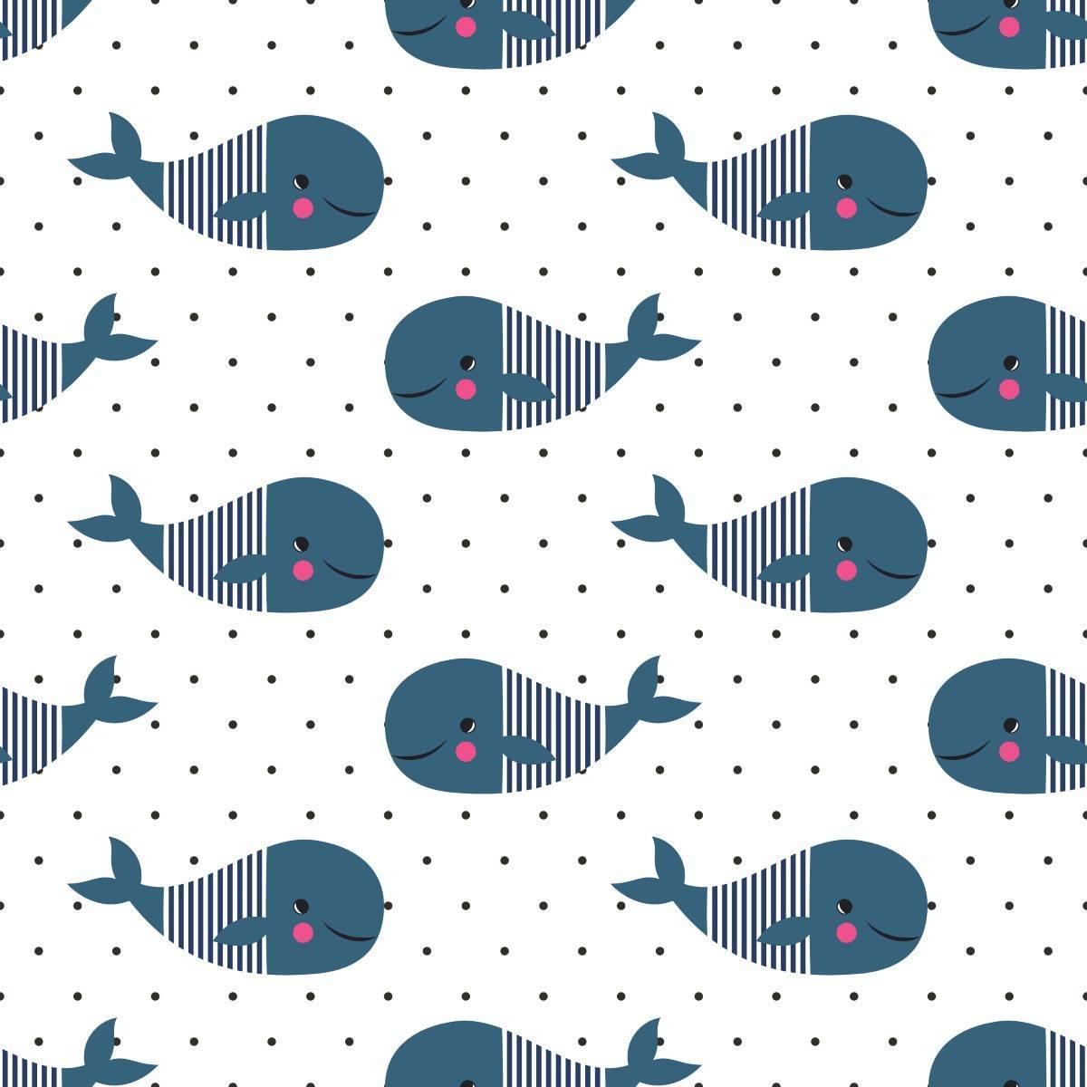 Papel de Parede Adesivo Baleias imagem 1