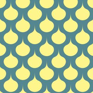 Papel de Parede Adesivo Retrô Amarelo   Redecorei