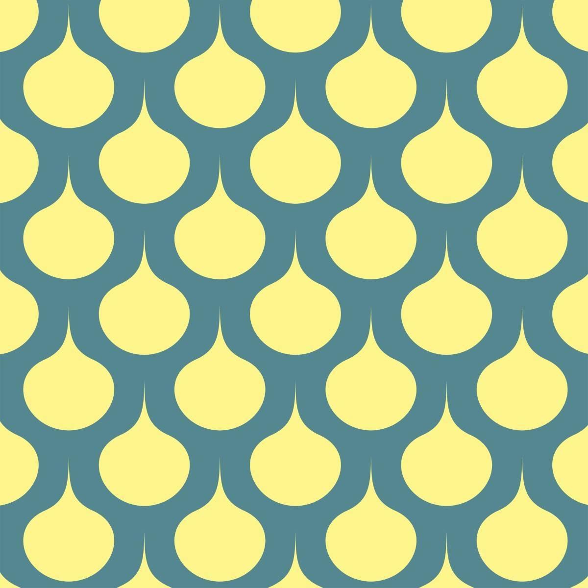 Papel de Parede Amarelo Retrô | Adesivo Vinilico imagem 2