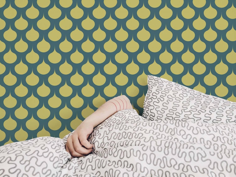 Papel de Parede Amarelo Retrô | Adesivo Vinilico imagem 1