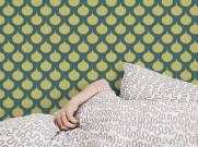 imagem do Papel de Parede Amarelo Retrô | Adesivo Vinilico