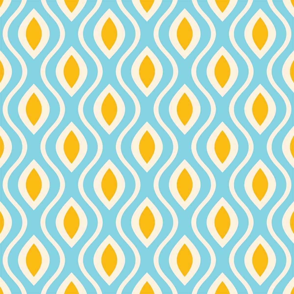 Papel de Parede Retrô Azul | Adesivo Vinílico imagem 2