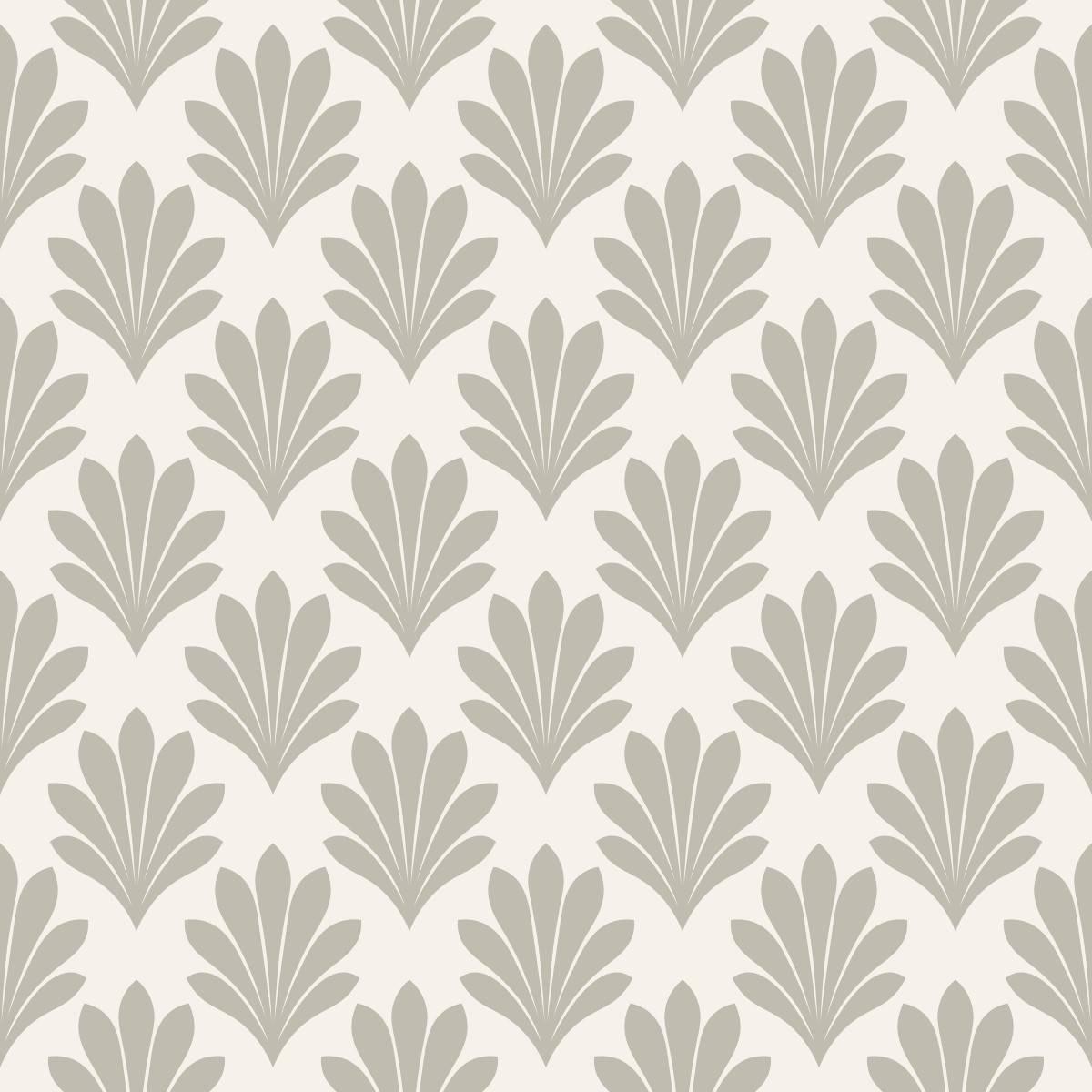 Papel de Parede Floral Cinza 02| Adesivo Vinilico imagem 2