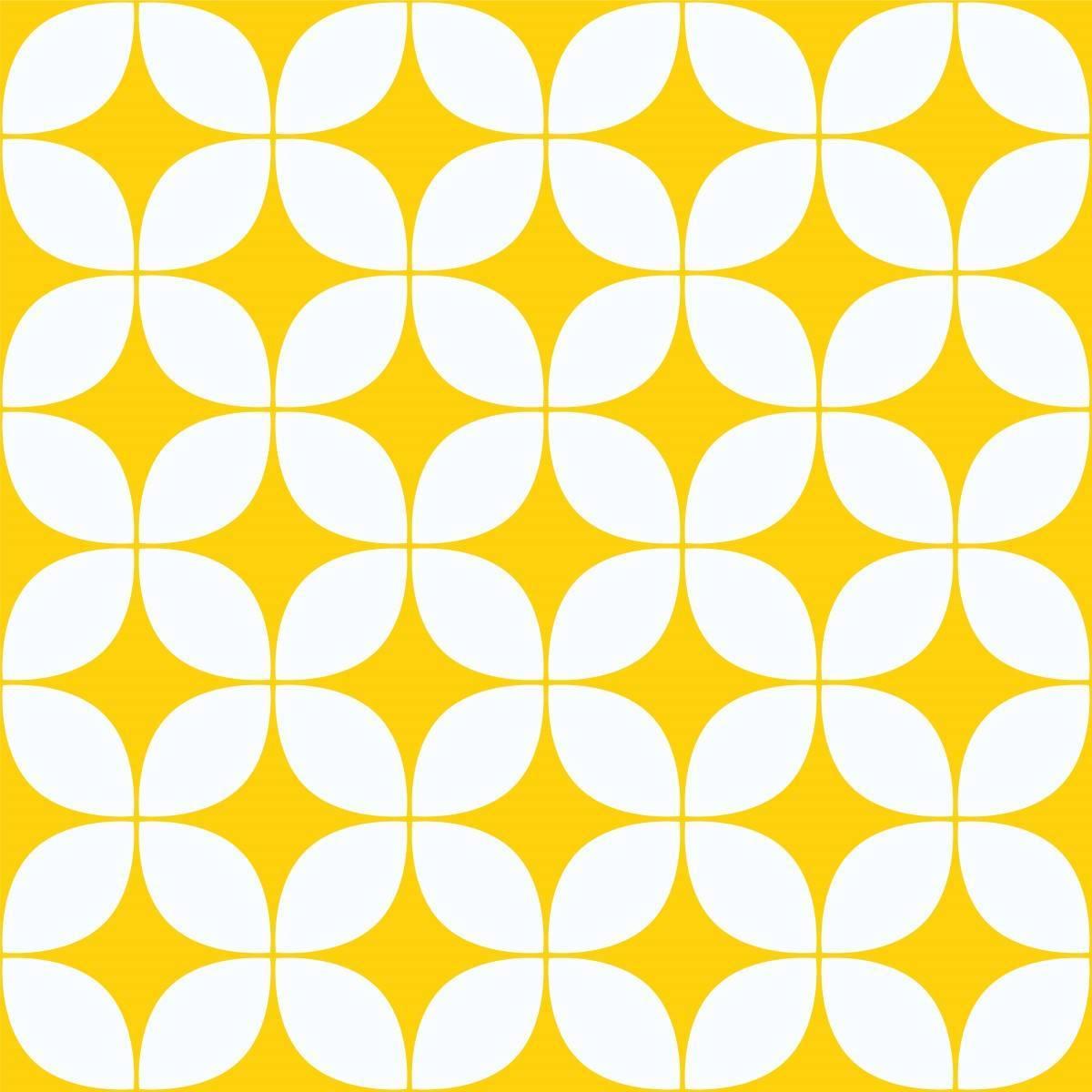Papel de Parede Retrô Amarelo | Adesivo Vinilico imagem 2
