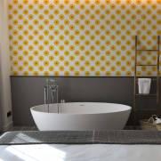 imagem do Papel de Parede  Gerbera Amarela | Adesivo Vinilico
