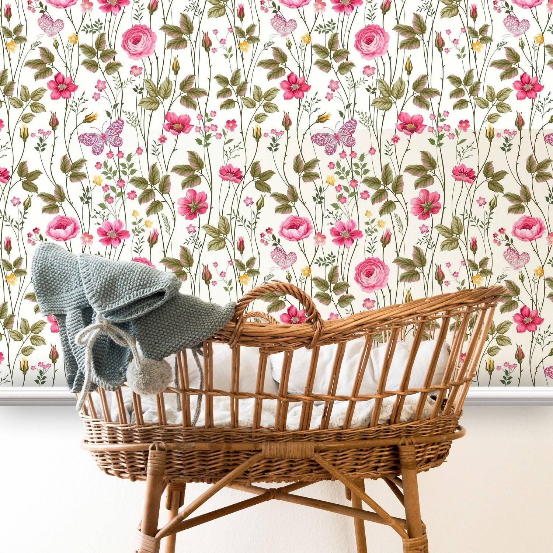 Papel de Parede Floral Rosas | Adesivo Vinílico imagem 2