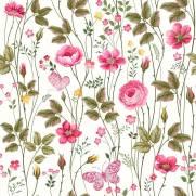 imagem do Papel de Parede Floral Rosas | Adesivo Vinílico