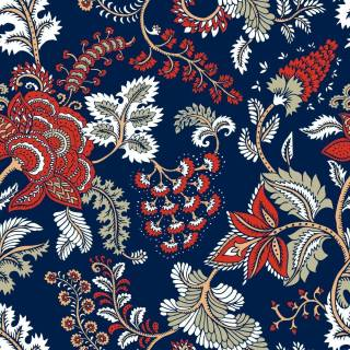 Papel de Parede Indiano Azul | Adesivo Vinílico