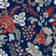 imagem do Papel de Parede Indiano Azul | Adesivo Vinílico