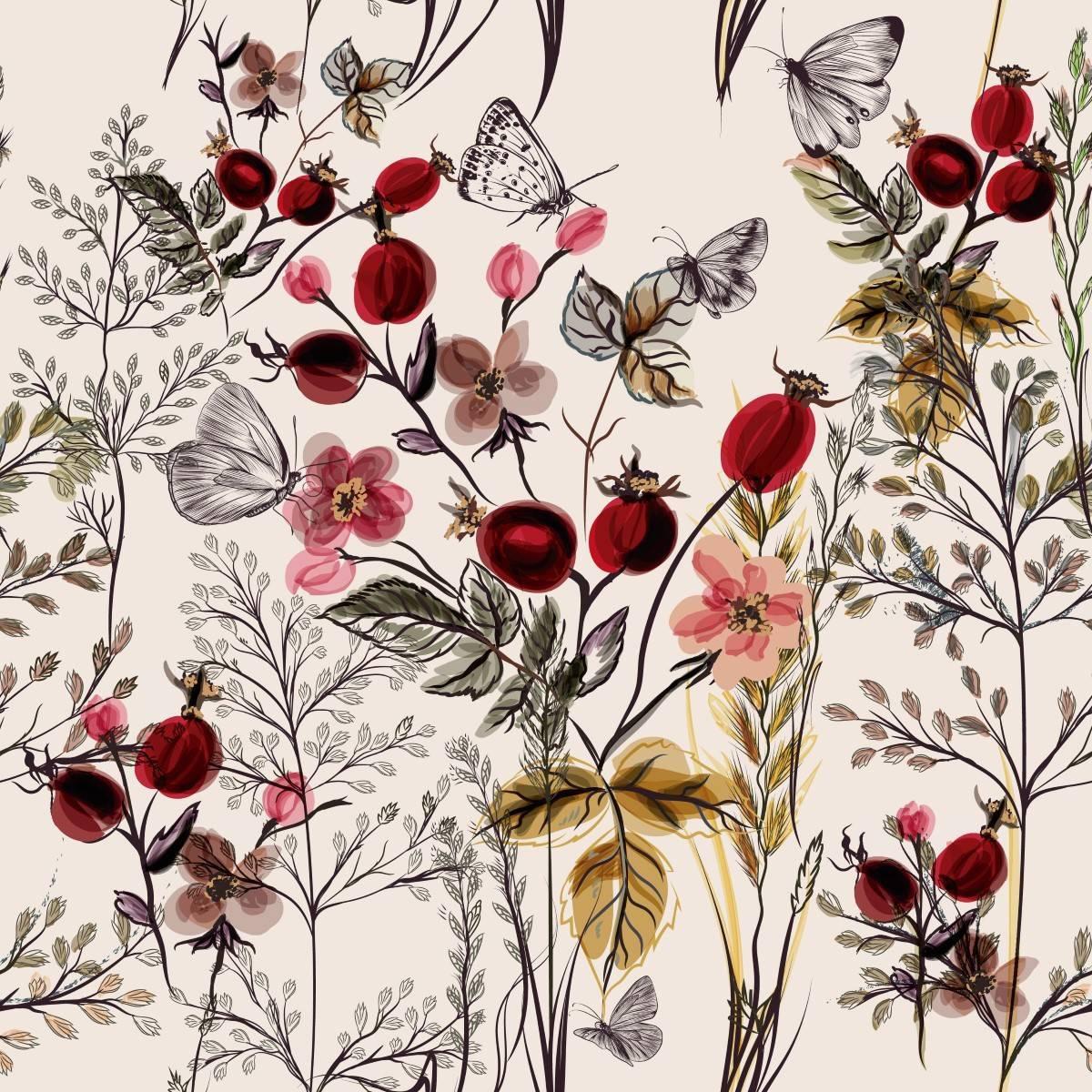Papel de Parede Jardim de Inverno | Adesivo Vinílico imagem 1