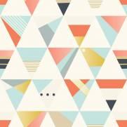 imagem do Papel de Parede Triangulos Coloridos