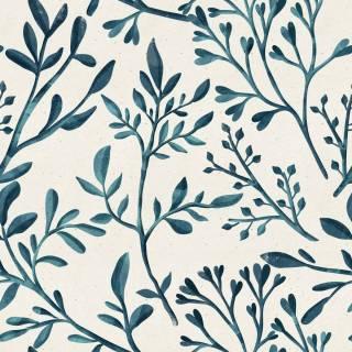 Papel de Parede Ramo Azul | Adesivo Vinílico