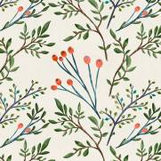 imagem do Papel de Parede Floral Ramos Aquarela | Adesivo Vinílico