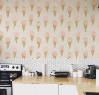 Papel de Parede Adesivo Ice Cream /Rolo