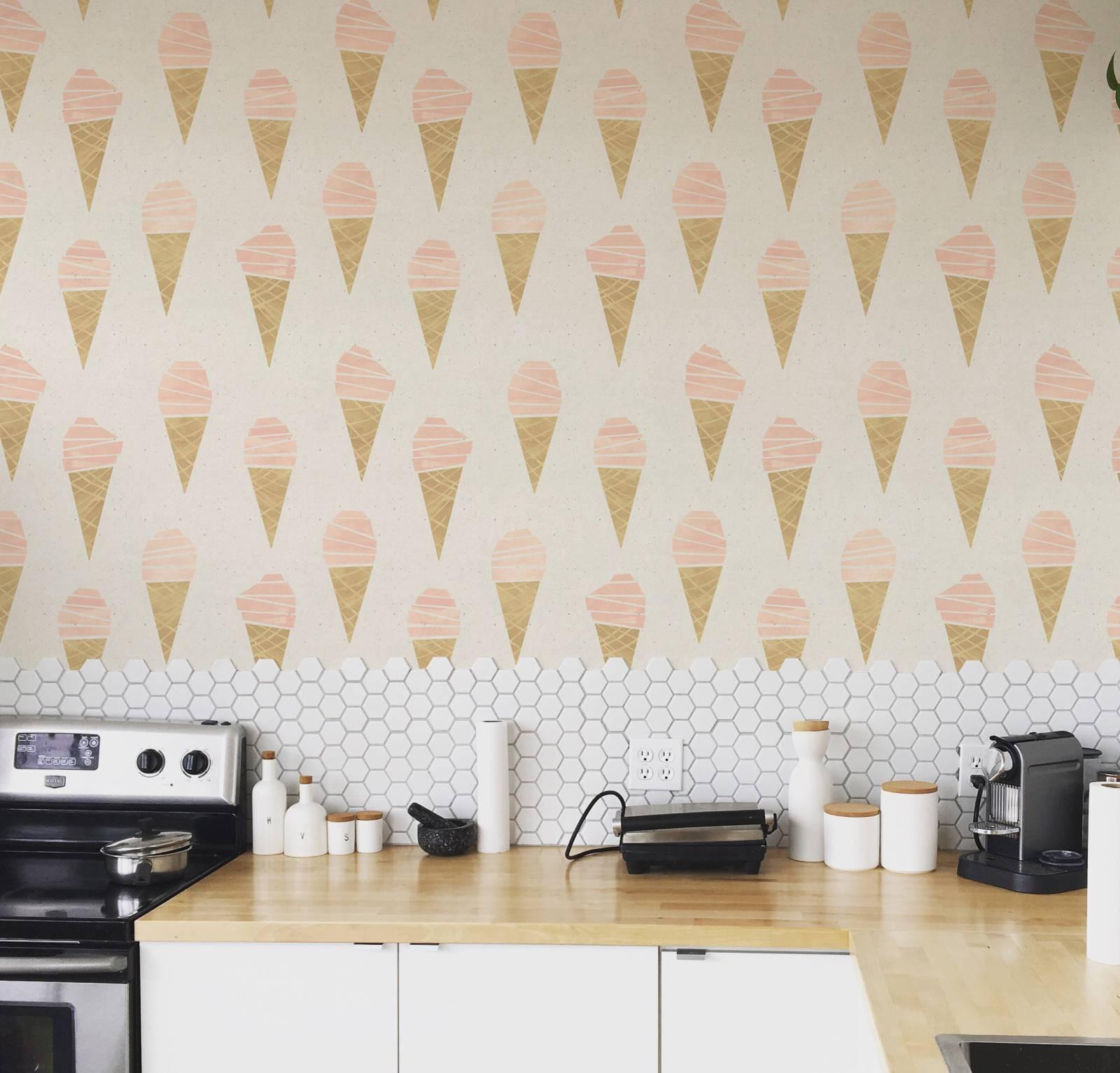 Papel de Parede Adesivo Ice Cream /Rolo imagem 1