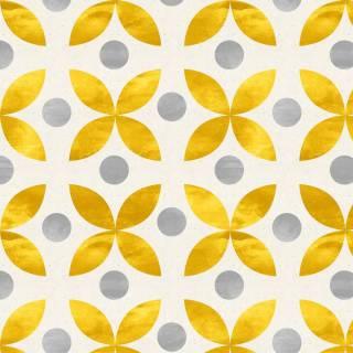 Papel de Parede Geométrico Dourado | Adesivo Vinílico