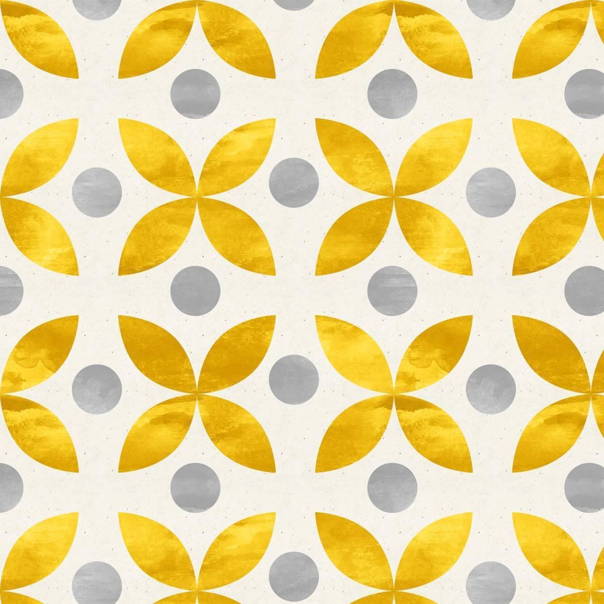 Papel de Parede Geométrico Dourado | Adesivo Vinílico imagem 1
