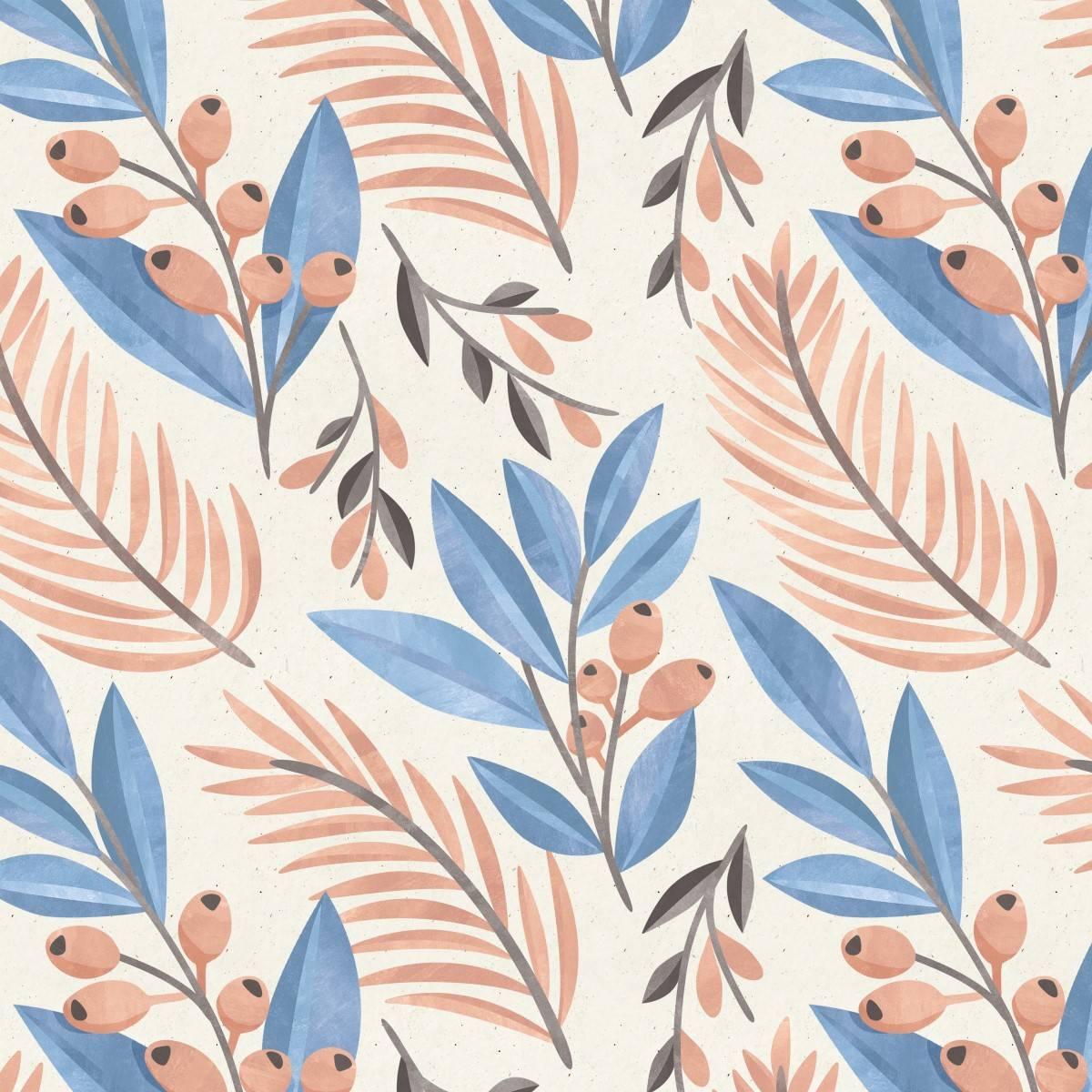 Papel de Parede Adesivo Floral Ramos/Rolo - Redecorei