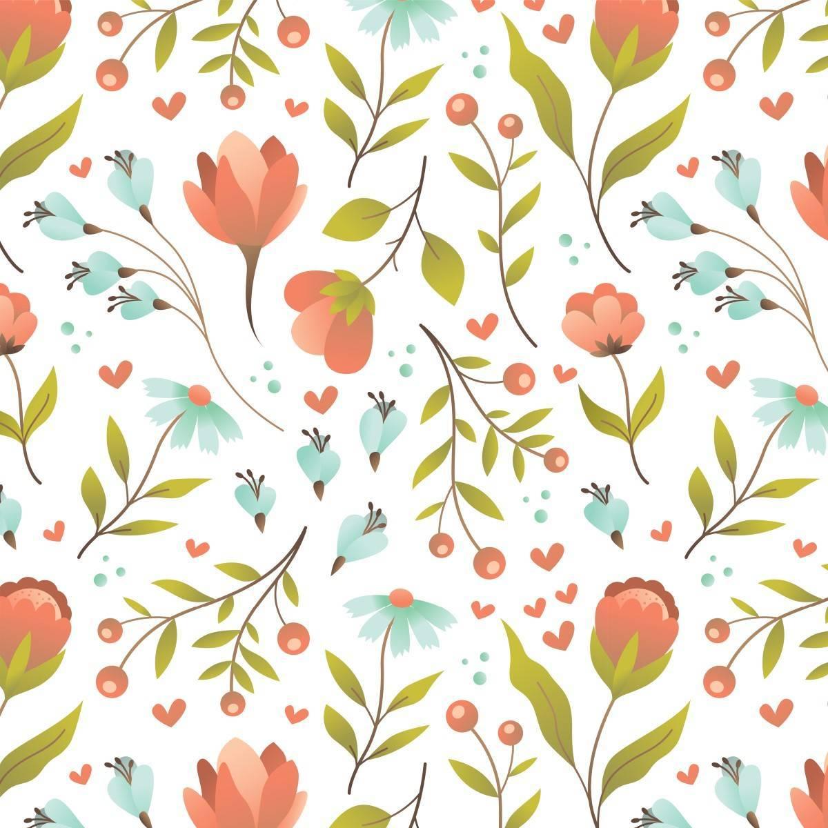 Papel de Parede Adesivo Floral Multicolor/Rolo
