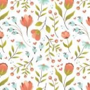imagem do Papel de Parede Floral Infantil| Adesivo Vinílico