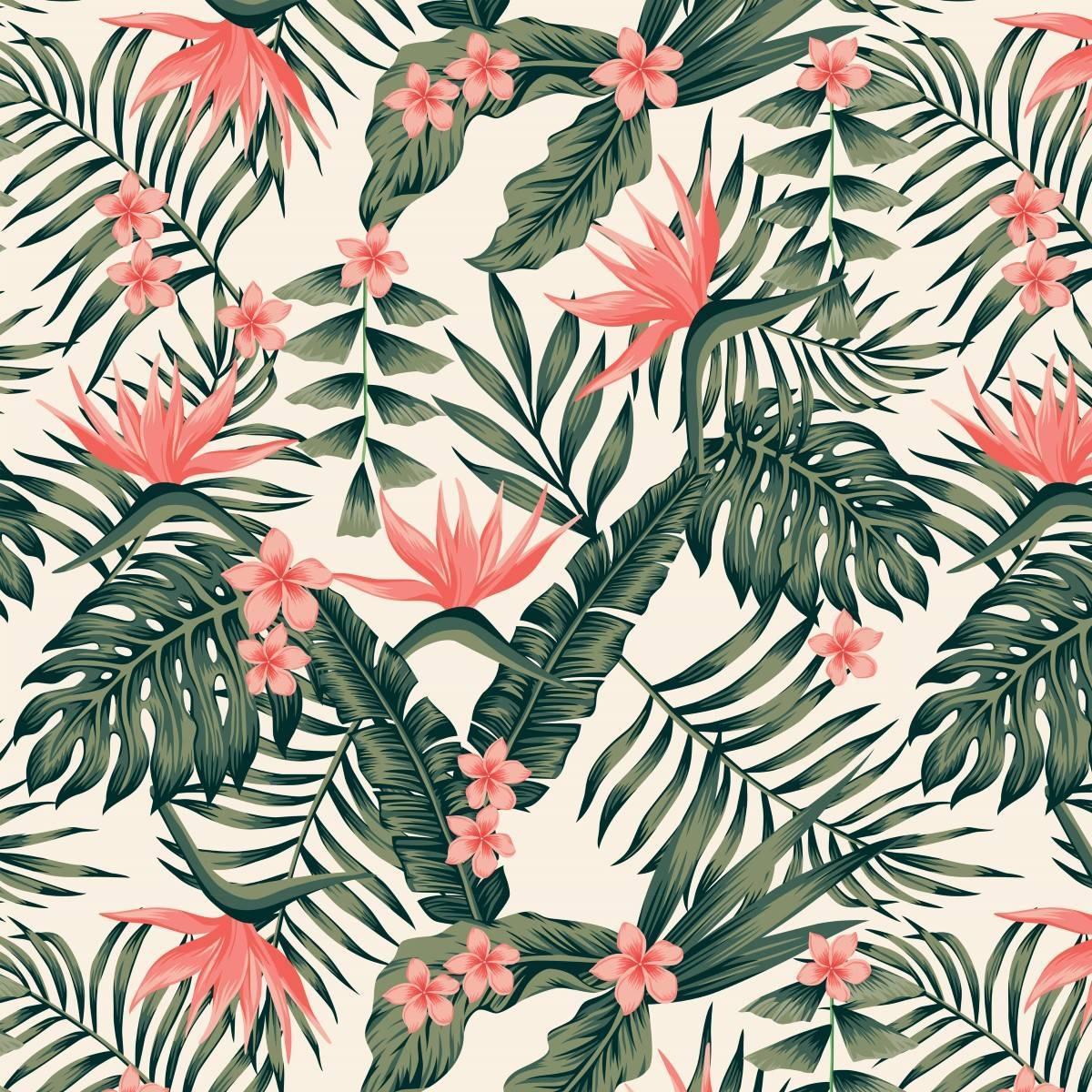 Papel de Parede Tropical | Adesivo Vinílico imagem 1