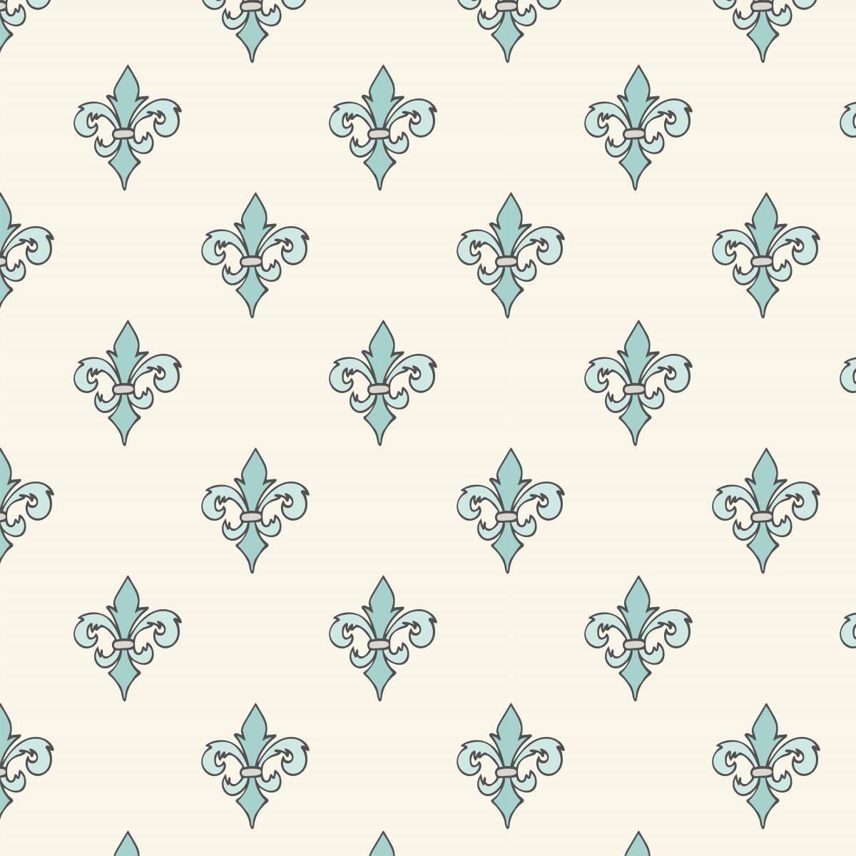 Papel de Parede Adesivo Vintage Azul/Branco Rolo - Redecorei