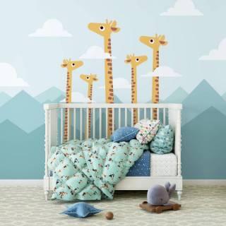Painel Fotográfico Infantil Girafas/ m²