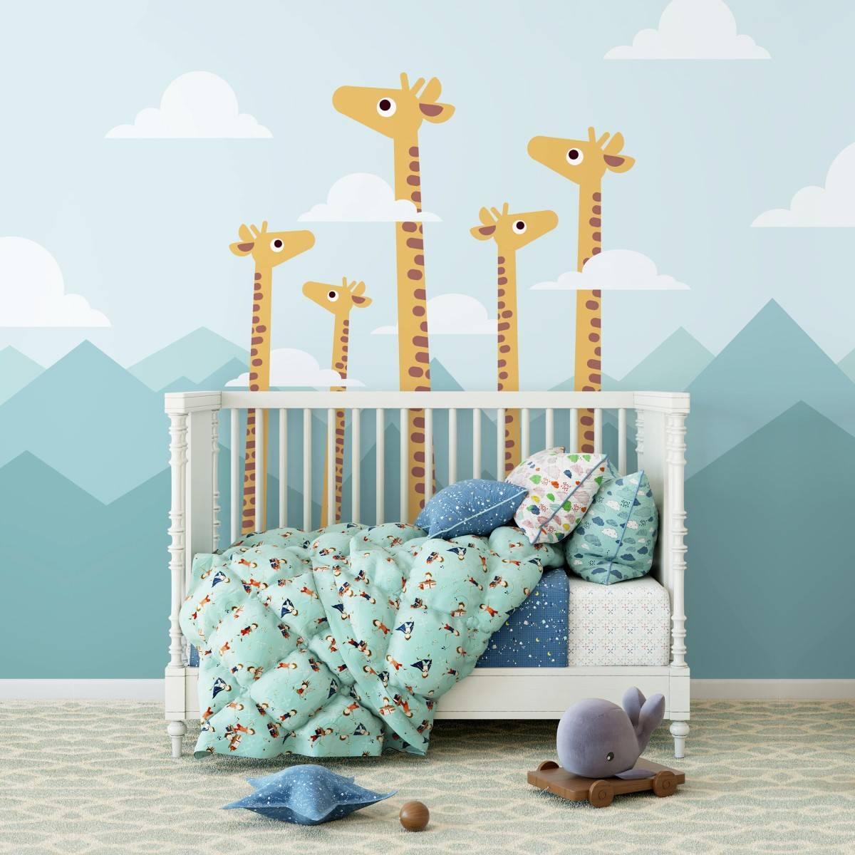 Painel Fotográfico Infantil Girafas/ m² imagem 1