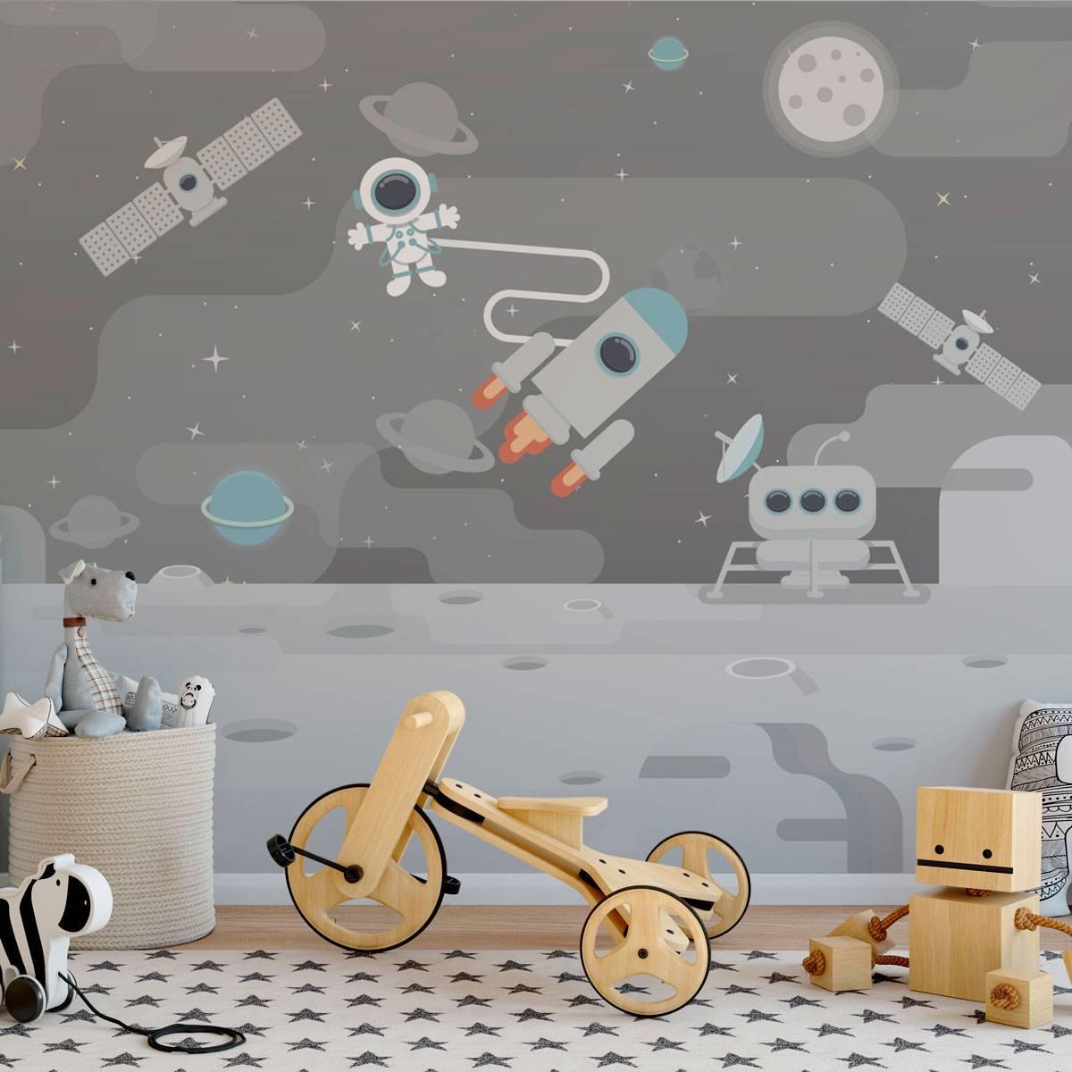 Painel Fotográfico Infantil Jornada no Espaço / m² imagem 1