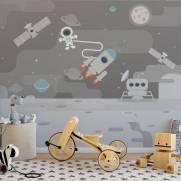 imagem do Painel Fotográfico Infantil Jornada no Espaço / m²