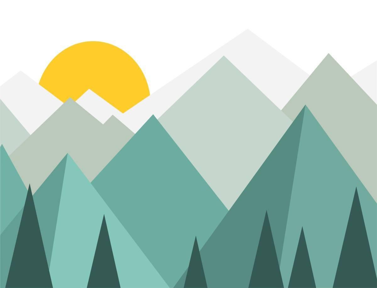 Painel Fotográfico Infantil Montanhas Verde/ m² imagem 2