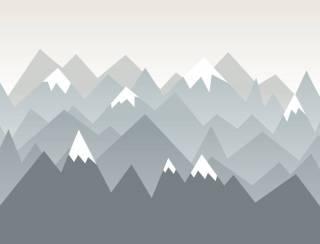 Painel Fotográfico Infantil Montanhas Neve/ m²