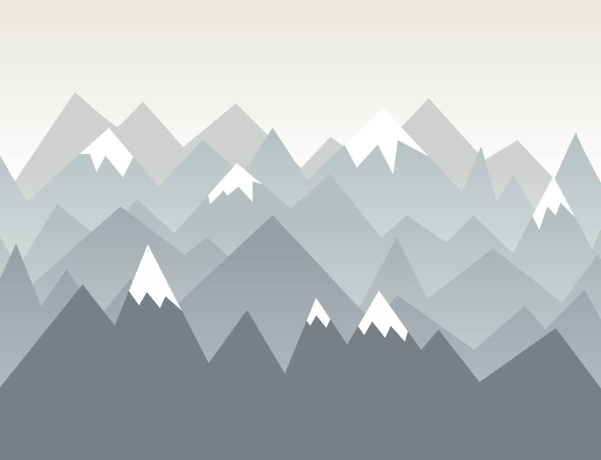 Painel Fotográfico Infantil Montanhas Neve/ m² imagem 1