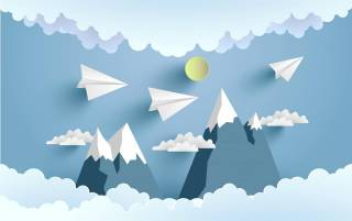 Painel Fotográfico voando na nuvens / m²