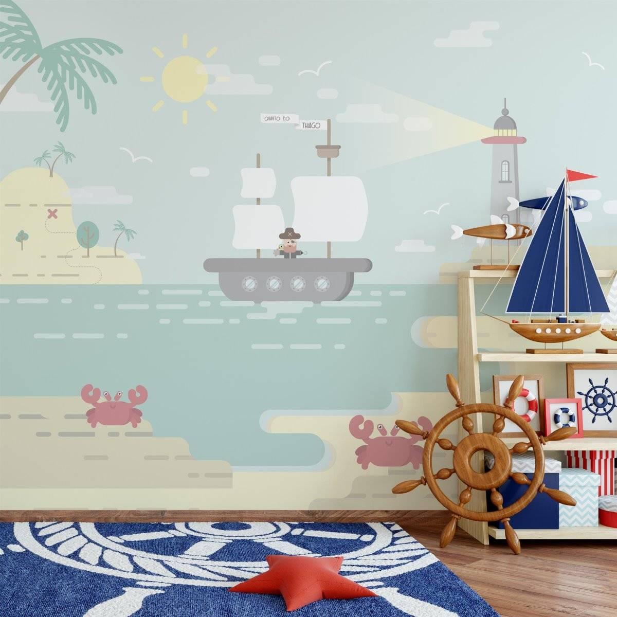 Painel Fotográfico Ilha do Pirata/ m² imagem 2