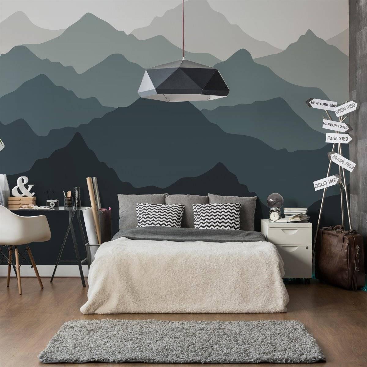 Painel Fotográfico Montanhas Degrade/ m² imagem 2