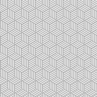 Papel de Parede Geométrico Cubos Cinza | Adesivo Vinilico