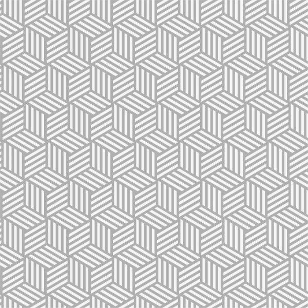 Papel de Parede Geométrico Cubos Cinza | Adesivo Vinilico imagem 1