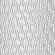 imagem do Papel de Parede Geométrico Cubos Cinza | Adesivo Vinilico