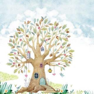 Painel Fotográfico Infantil Lúdico Árvore/ m²
