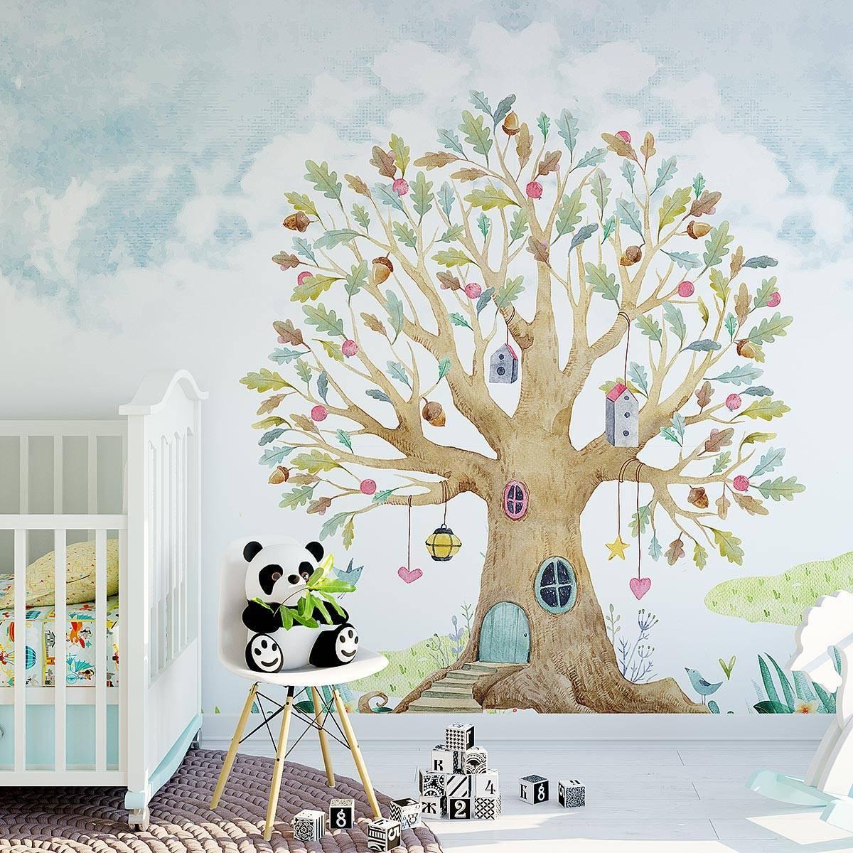 Painel Fotográfico Infantil Lúdico Árvore - Redecorei