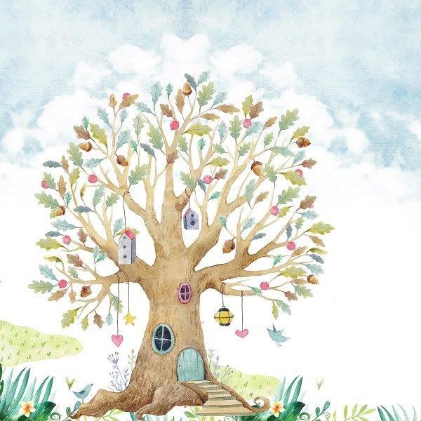 Painel Fotográfico Infantil Lúdico Árvore/ m² imagem 1