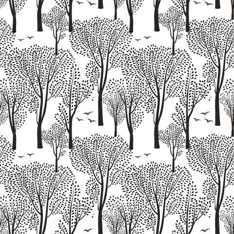 Papel de Parede Floresta Negra | Adesivo Vinílico imagem 1