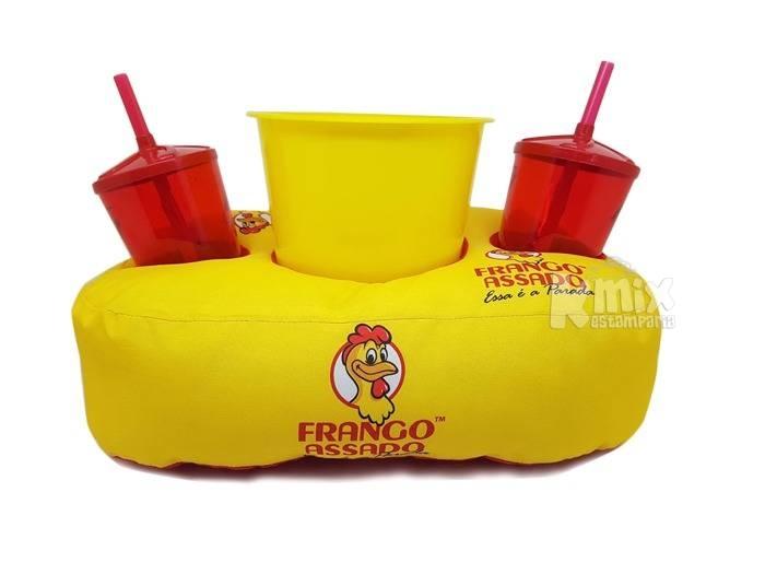 Almofada personalizada 2 copos e 1 balde - todos os temas (P - kmix estamparia