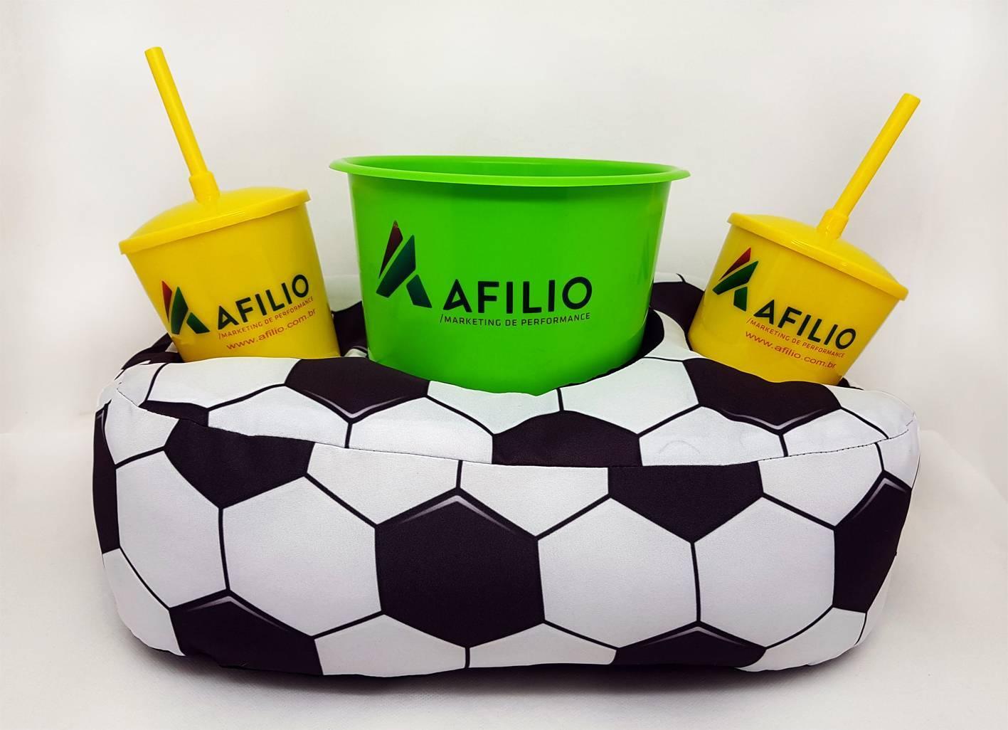 Almofada personalizada completa 2 copos e 1 balde - todos os - kmix estamparia